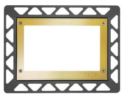 Монтажная рамка для стеклянных панелей TECE 9240648, позолоченная