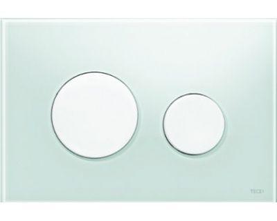 Смывная клавиша TECEloop 9240651, стекло зеленое, клавиши белые