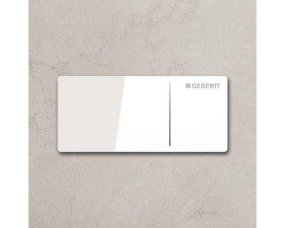 Дистанционная смывная клавиша Geberit Sigma Type70 115.630.SI.1, стекло белый/алюм