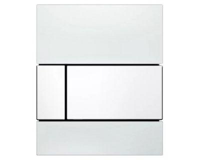Смывная клавиша для писсуара TECEsquare Urina 9242800, стекло белое, клавиша белые