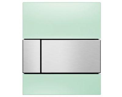 Смывная клавиша для писсуара TECEsquare Urina 9242804, стекло зеленое, клавиша сатин