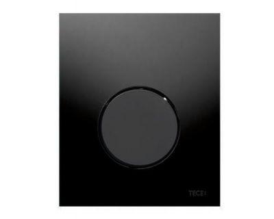 Смывная клавиша для писсуара TECEloop Urina 9242657, стекло черное, клавиша черная