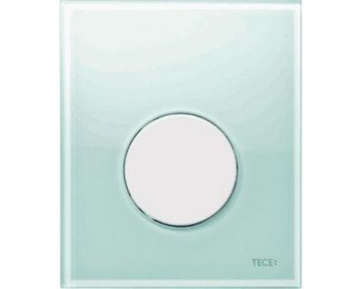 Смывная клавиша для писсуара TECEloop Urina 9242651, стекло зеленое, клавиша белая