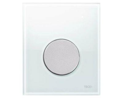 Смывная клавиша для писсуара TECEloop Urina 9242659, стекло белое, клавиша хром матовый