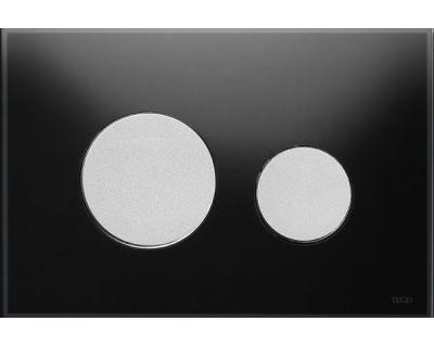 Смывная клавиша TECEloop 9240655, стекло черное, клавиши хром матовый