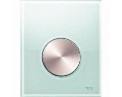 Смывная клавиша для писсуара TECEloop Urina 9242662, стекло зеленое, клавиша сатин
