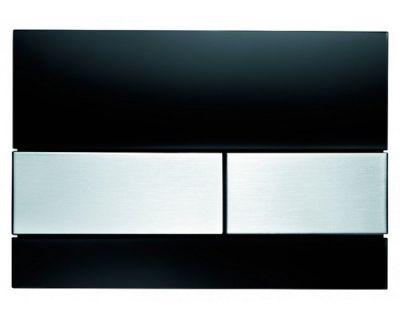 Смывная клавиша TECEsquare 9240806, стекло черное, клавиши сатин