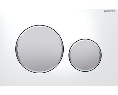 Смывная клавиша Geberit Sigma20 115.882.KL.1, двойной смыв цвет рамка-бел./кнопка-хр.мат./кольцо-хр.мат.