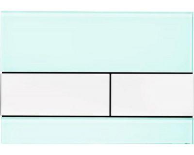 Смывная клавиша TECEsquare 9240803, стекло зеленое, клавиши белые