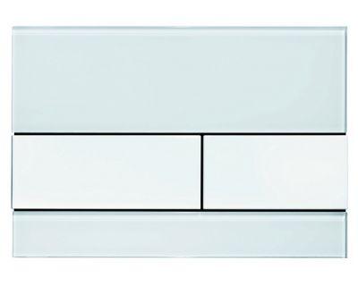 Смывная клавиша TECEsquare 9240800, стекло белое, клавиши белые