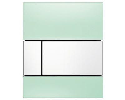 Смывная клавиша для писсуара TECEsquare Urina 9242803, стекло зеленое, клавиша белая