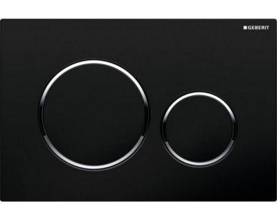 Смывная клавиша Geberit Sigma20 115.882.KM.1, двойной смыв цвет рамка-бел./кнопка-хр.мат./кольцо-хр.мат.