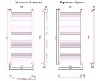 Полотенцесушитель Сунержа Богема+ 1200x500