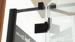 Így működik a Radaway Essenza New Black zuhanykabinokban az emelőmechanikás zsanér