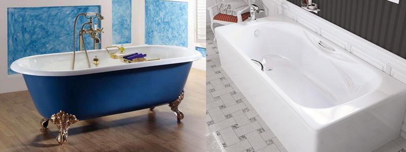как выбрать ванну - чугунные ванны